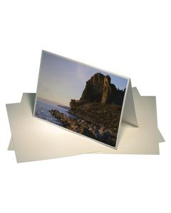 "7"" x 5"" Moab Lasal Blank Card, Bright White (50 Pieces) [PE00]"