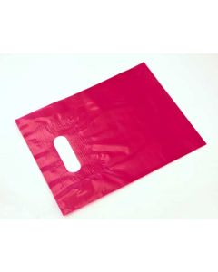 "12"" x 15"" Fuchsia Reinforced Handle Bag 1.75 Mil LDPE (50 Pieces) [H1215FU4]"