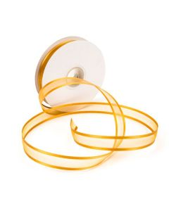 "5/8"" Wide Old Gold Satin Edge Ribbon"