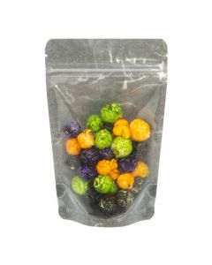 """4 11/16"""" x 3"""" x 7 1/4"""" (Outer Dims) Black Rice Paper Backed Stand Up Pouches (100 Pieces) [ZBGR46BC]"""
