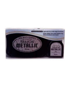 Metallic Silver StazOn Ink Pad and Refill (1 Piece) [SZ192]