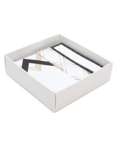 "Matte white box bottom 3 1/8"" x 1"" x 3 1/4"""