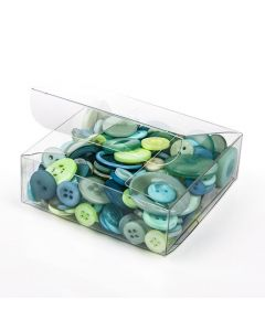 "3"" x 3"" x 1"" Crystal Clear Value Boxes (50 Pieces) [VB297]"