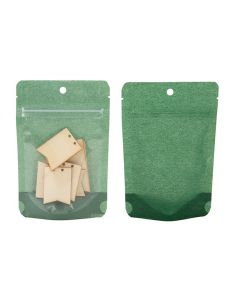 4x6 harvest green rice paper stand up pouch