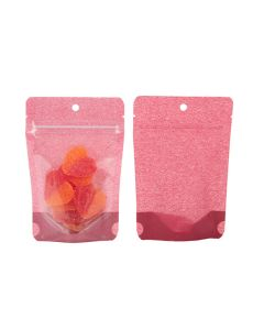 "4"" x 2 3/8"" x 6"" (Outer Dims) Harvest Cranberry Rice Paper Backed Stand Up Pouch w/Hang Hole (100 Pieces) [ZBGR2HR]"