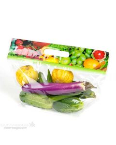 Printed Produce Zip Handle Bag