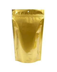 6 3/4 x 3 1/2 x 11 1/4 gold metallized pouch