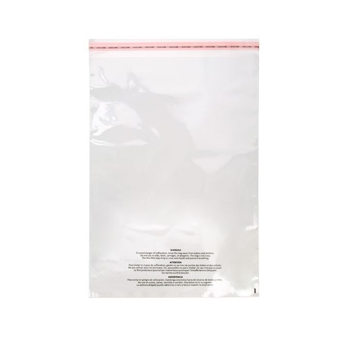 """LAY FLAT OPEN TOP 1000 6/"""" x 9/"""" 1.5 Mil Suffocation Warning Poly Bags CLEAR"""