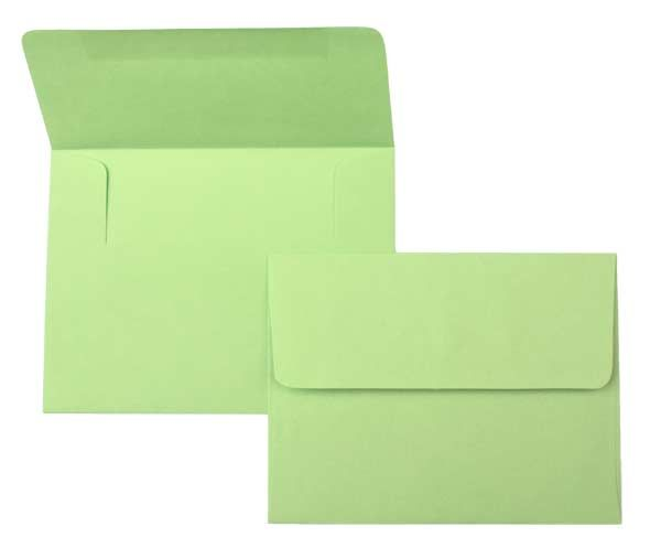 buy envelopes brights lee a7 size lime green 7 1 4 x 5 1 4