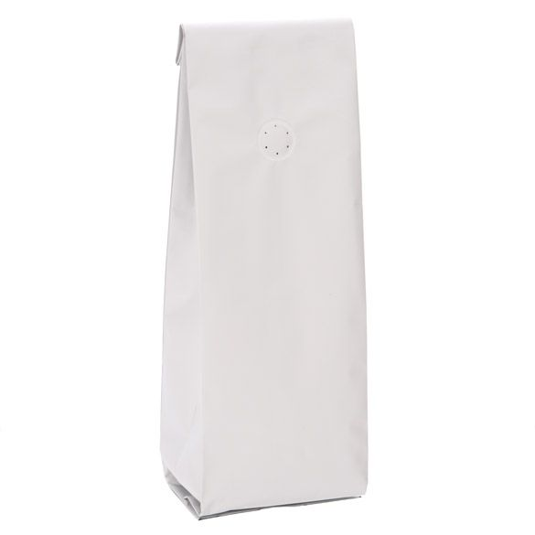 Matte White Coffee Bag Standing Up