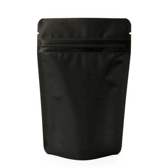 4 X 2 3 8 6 Matte Black Stand Up Pouch