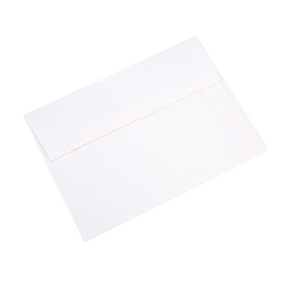 a7 size deckled envelope teton tiara white acid free en00